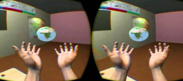 L'école virtuelle/ virtual school Oculus Rift Leap Motion