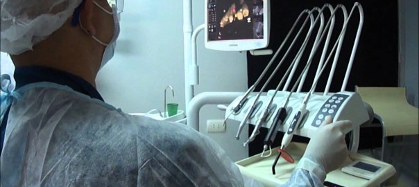First use of Leap Motion during dental implant surgery